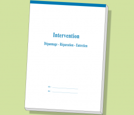 Carnets FICHES d'INTERVENTION Dupli