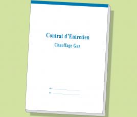 Carnet Contrat d'Entretien GAZ