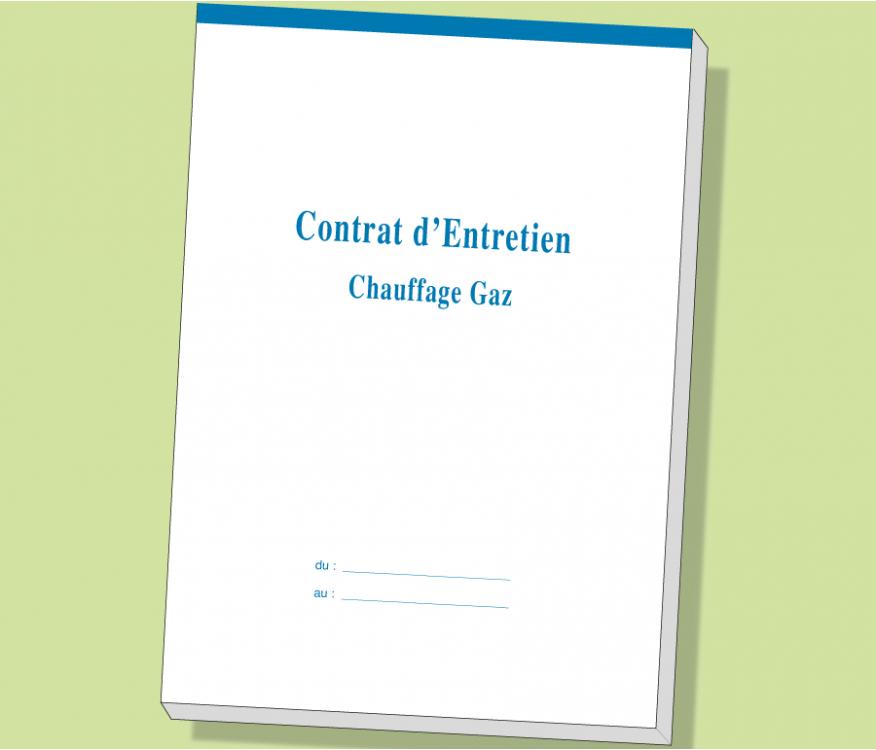 Carnet Contrat d'Entretien GAZ - CEAG