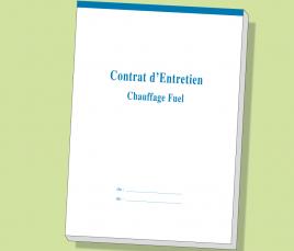 Carnet Contrat d'Entretien FIOUL