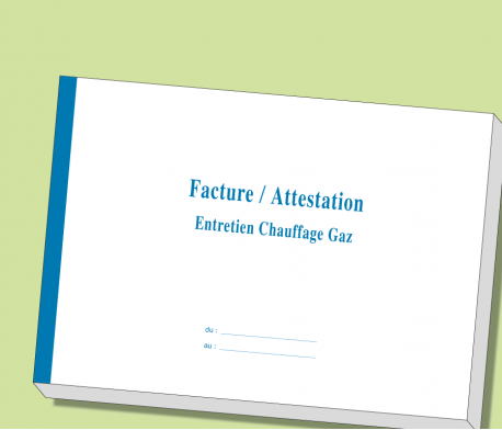 Carnet Facture/Attestation Entretien GAZ