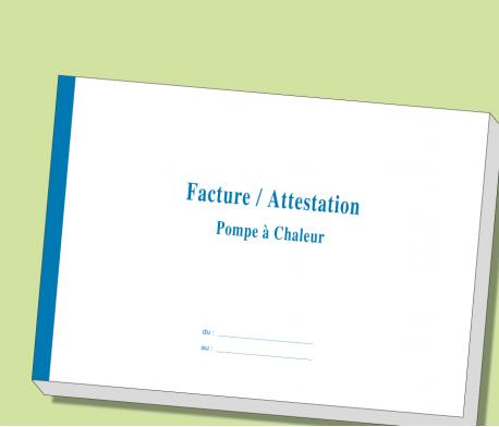 Carnet Facture/Attestation Entretien POMPE A CHALEUR