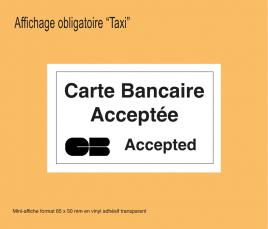 Affichage Carte Bancaire Acceptée