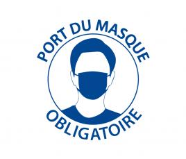 Affichage Port du Masque Obligatoire