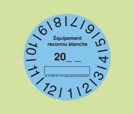 Etiquettes de Contrôle d'Etanchéité Bleues