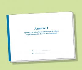 ANNEXE 1 - Fiche d'Intervention / Bordereau de Suivi de Déchets Dangereux