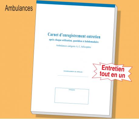 Carnet Ambulances - Pluri Entretien